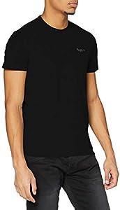 Pepe Jeans Original Basic S/S PM503835 Camiseta, Negro (Black 999), X-Large para Hombre