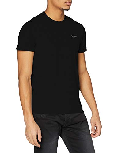 Pepe Jeans Original Basic S/S PM503835 Camiseta, Negro (Black 999), Small para Hombre