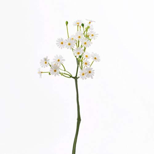 artplants.de Set 6 x künstliches Gänseblümchen Belina mit 24 Blüten, weiß, 30cm, Ø 9cm - Kunstblumen - Wiesenblume künstlich