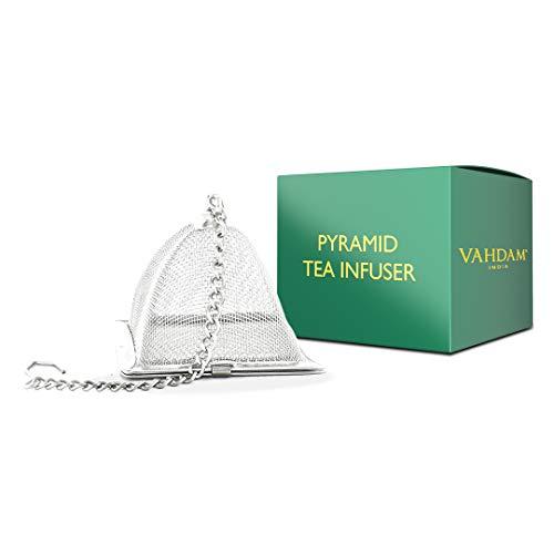 VAHDAM, infusore tè piramide   infusore tisana   Filtro a maglia fine in acciaio inossidabile 18/8   filtro the infusione   filtro per tisane   tea strainer per tè sfuso   Infusore per tè sfuso