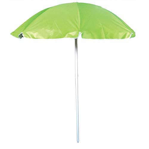 Ombrellone da spiaggia in poliestere diam. 180cm, ombrellone mare portatile con custodia con tracolla,ombrellone spiaggia Ø 1,8M verde mod. Giglio,ombrellone in acciaio con interno in tessuto anti UV