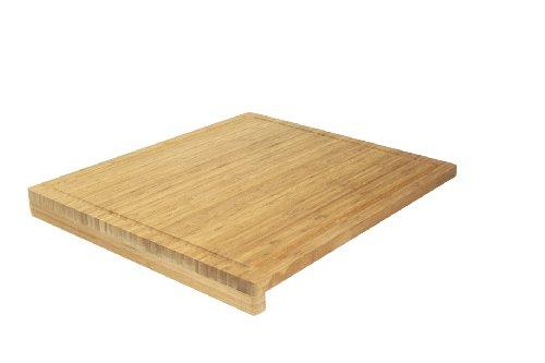 Ambiance Nature 508815 - Tagliere in bambù con Bordi, 52,5 x 46 x 1,9 cm