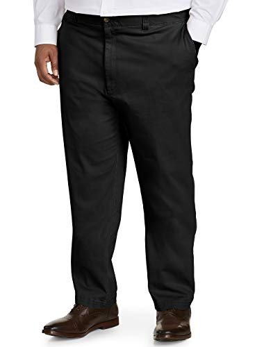 Amazon Essentials Men's Big-Tall Athletic-Fit Casual Stretch Khaki Pant Pants, -Black, 44W x 30L