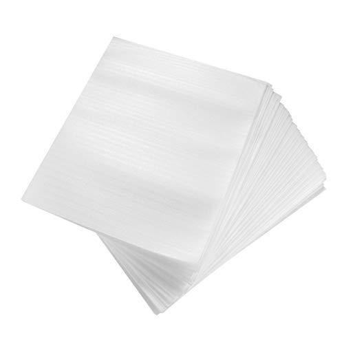 NUOBESTY - 100 fundas de espuma antigolpes, acolchadas para vajilla, vasos, embalaje mudanza, envío y almacenamiento (15 x 25 cm)