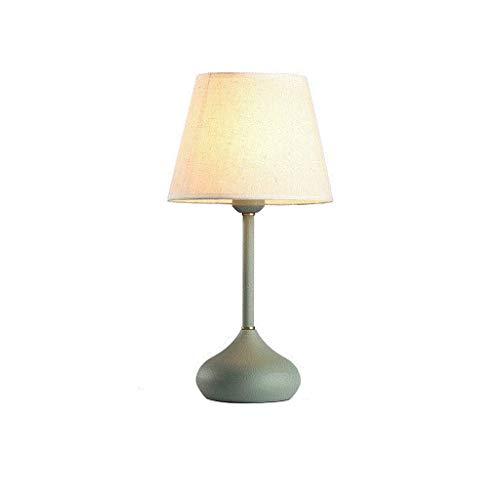 Nachtlampje Nordic Simpmodern creatief keramische stof lampenkap hout woonkamer nacht nachtlicht DSFSdcfds/groen/A schakelaar