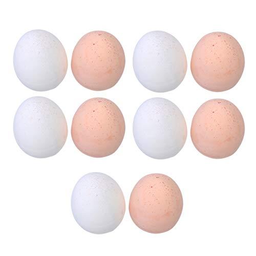 SUPVOX 10pcs uova finte uova di gallina da cucina finta gioca giocattoli modello educativo fai da te pittura artigianato festival home office decorazione ornamento