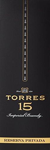 TORRES BRANDY 15 RESERVA PRIVADO (1x 0,7l) – aus der spanischen Weinbauregion Penedès – in statischer Lagerung und Solera-Verfahren gereift – 70cl mit 40% vol. - 2
