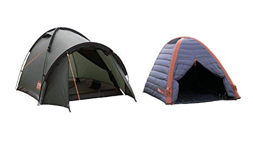 Crua Duo Cocoon Combo Tent: Waterproof Hiking Camping Durable, Breathable Insulated Expedition Setup, 2 Person Tent with Aluminum/Air Frame (Combo) … (Duo Combo)