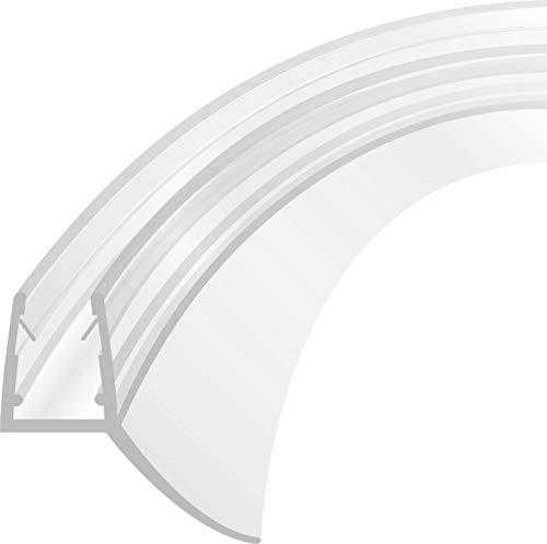 Duschdichtung Schwallschutz Ersatzdichtung Dichtung Viertelkreis Runddusche Wasserabweiser gebogen 1 m für eine Glasstärke 4-8 mm