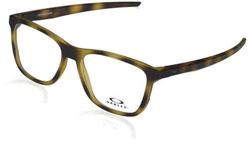 Oakley Men's OX8163 Centerboard Round Prescription Eyewear Frames, Satin Brown Tortoise/Demo Lens, 53 mm