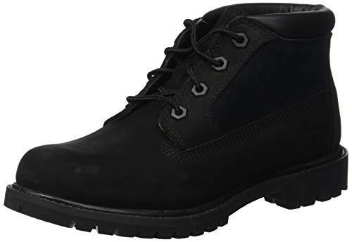 Timberland Damen Nellie Leather Suede Chukka Boots, Schwarz (Black Nubuck), 37 EU