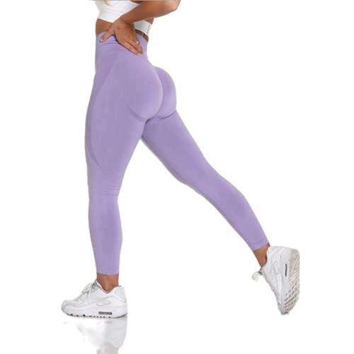 QTJY Estirar sin Costuras Fitness Yoga Pantalones de Entrenamiento Pantalones de chándal de Cintura Alta Push-up Leggings Pantalones para Correr en Cuclillas para Mujer ES