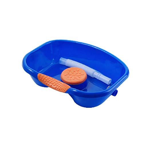LYKH Champú de Edad avanzado, Lavabo Espesado portátil para discapacitados/Embarazada/Paciente champú asistiendo artefacto en la Cama,Upgraded