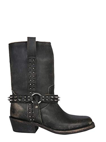 Ash Luxury Fashion Femme NELSONBLACK Noir Cuir Bottines | Saison Outlet