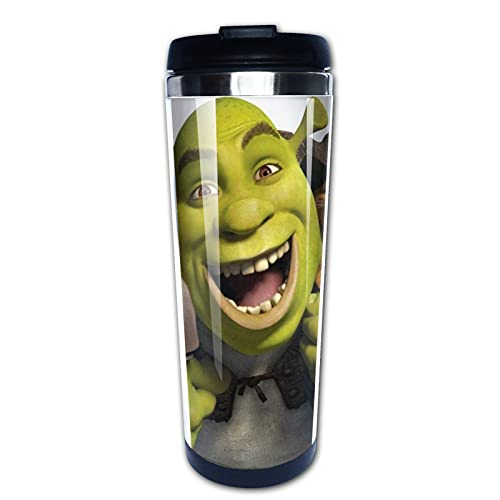Monster Shrek - Taza de café (acero inoxidable, 400 ml, con aislamiento al vacío)