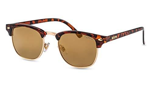 Filtral Retro Sonnenbrille/Nachhaltige Sonnenbrille im Browline-Style für Damen & Herren F3070821