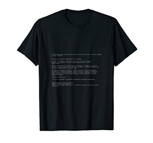 Blue Screen of Death Funny Computer Coder Programmer T-Shirt