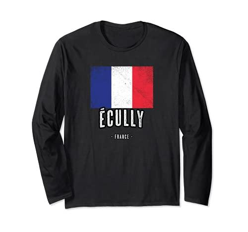 Ville de Écully - France | FR - Drapeau Français - Manche Longue