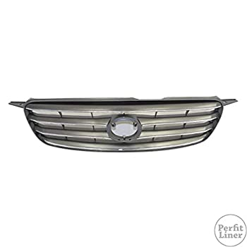 Perfit Liner New Front Gray Grille Grill Compatible With TOYOTA 2003-2004 Corolla TO1200244 5310002020