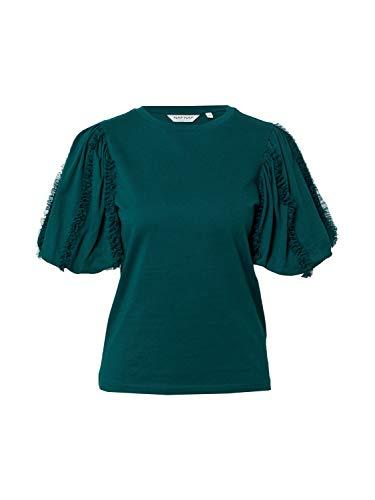 Naf Naf Camiseta Tul Verde para Mujer M