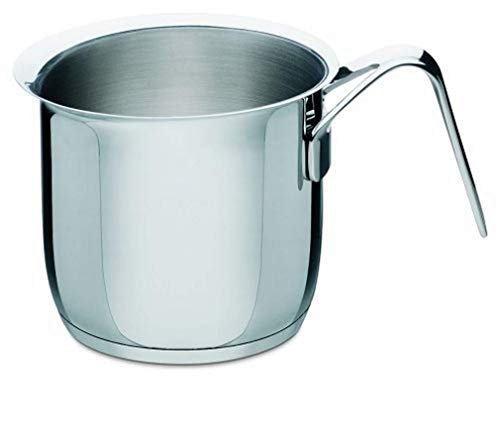 Alessi Ajm302 Pots&pans Bouilloire à lait en Acier Inoxydable 18/10 Brillant
