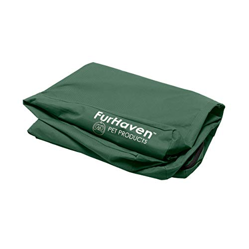 Furhaven Hundebett, orthopädisch, rechteckig, Designs erhältlich, Nur Abdeckung, Medium, Polycanvas Forest