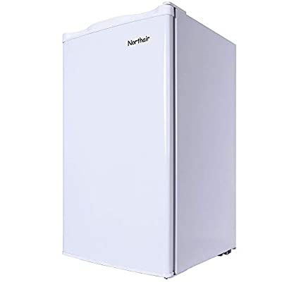 Northair Compact Fridge Refrigerator with Mini Freezing Compartment?3.2 Cu.Ft Single Reversible Door Dorm Size Refrigerator Freezer for Cold Drink/Beverage/Wine/Fruits/Vegetables