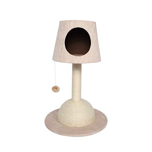 Xiuhua Krabpaal toren, tafellamp kat klimrek kattennest kleine luxe krabpaal volledig ingewikkeld sisal krabpaal kat klimrek beige
