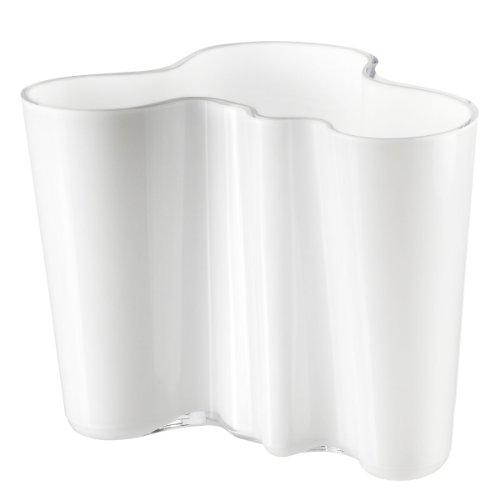Iittala Vase Aalto 160 mm Weiß aus Glas