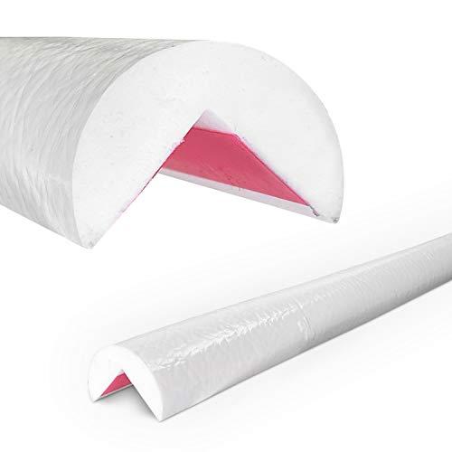 Betriebsausstattung24® Eckschutzprofil Typ A | weiß | selbstklebend | Länge: 1,0 m