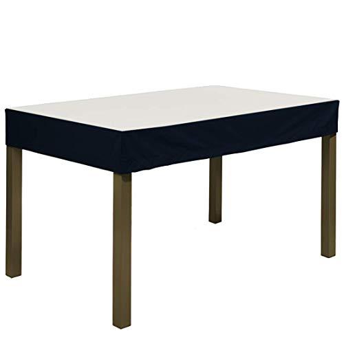 Planesium Premium - Funda protectora para mesa de jardín (260 x 130 x 15 cm), color blanco y negro