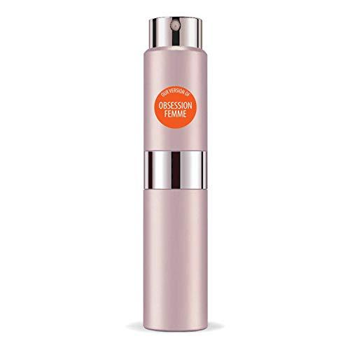 CA Perfume Club Our Version of Obsession For Women Travel Sample Size Refillable Atomizer Replica Designer Fragrance Eau de Parfum / Cologne Sprayer ( 0.27 Fl Oz/ 8ml )