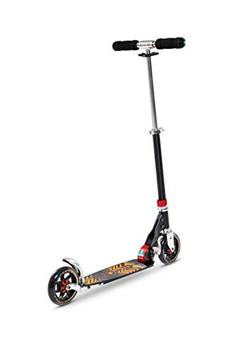 Micro Kinderroller Speed+ Scooter in schwarz-orange