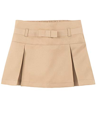 Chaps Girls' Toddler School Uniform Pleated Scooter Skirt, Khaki, 3T