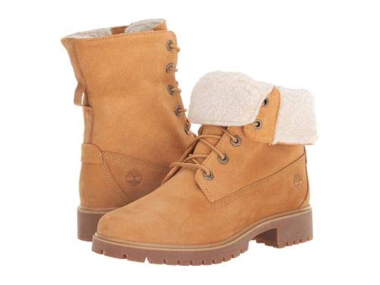 Timberland(ティンバーランド) レディース 女性用 シューズ 靴 ブーツ レースアップブーツ Jayne Waterproof Teddy Fleece Fold Down - Wheat Nubuck [並行輸入品]