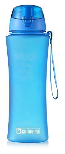 Culinario Trinkflasche Ice Loop aus Kunststoff, 700 ml, in blau, mit Silikon-Dichtungsring, Schraubverschluss, Hängeschlaufe, geschmacksneutral