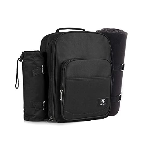 Plush Picnic - Picnic Backpacks (Two Person Black)