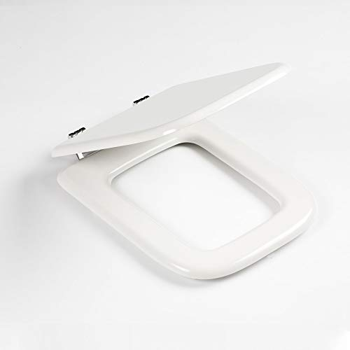Copri WC sedile ricambio adattabile a Ideal Standard serie Conca legno MDF bianco