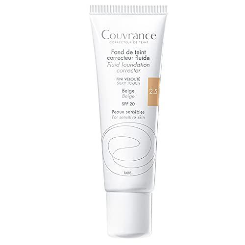 Couvrance Corrector De Base De Maquillaje Fluido Color Beige, Piel sensible, FPS 30, 30ml