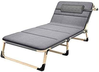 Suge Zero Gravity Chaise Lounges Patio Lounger Chair Sun Lounger Garden Chairs Folding Bed Sheet, Office Lunch Break Single Break, Nap Bed, 4D Breathable Mattress Home Recliner, Simple Portable Office