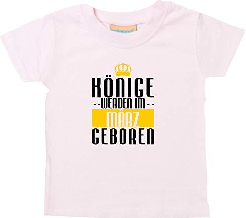 Shirtstown Bébé Kidst-Shirt Rois Seront Im März Geboren - Rose, 6-12 Monate