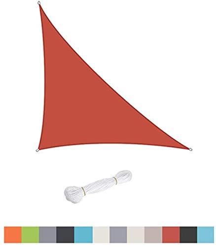 Velo De Sombra Triangular, Patio De Jardín De Piscina Al Aire Libre, Toldo De Tienda De Protección Solar a Prueba De Agua 98% Anti-UV, Diferentes Tamaños, Fácil De Limpiar,Red-2.4X2.4X2.4m