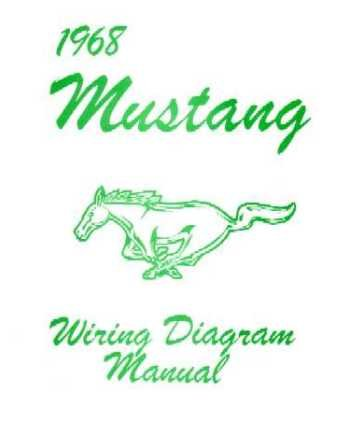 Amazon Com 1968 Ford Mustang Electrical Wiring Diagrams Schematics Manual Book Factory Oem Automotive