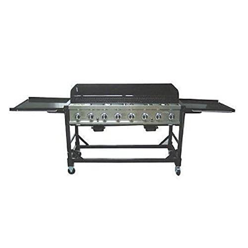 Rankam Commercial Lp Gas Portable 8 Burner Event Bbq Grill W Pvc Fitted Cover