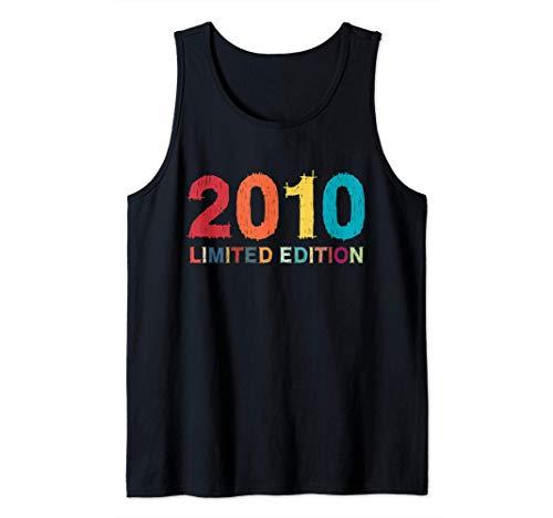 10 Años Cumpleaños Niño Niña Regalo Deco Divertido 2010 Camiseta sin Mangas