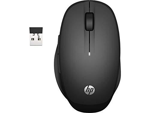 HP Dual Mode Maus (Smart TV Maus, AES verschlüsselt, Bluetooth, USB-Dongle, bis 3600 dpi) schwarz
