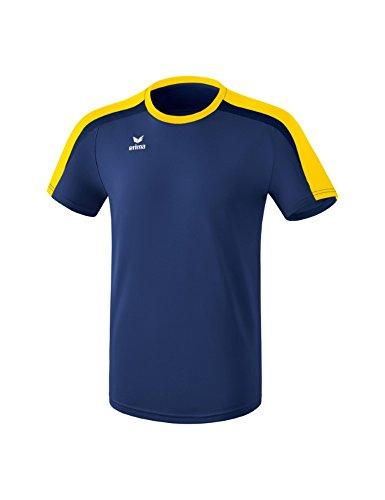 ERIMA Kinder T-shirt T-Shirt, new navy/gelb/dark navy, 140, 1081825