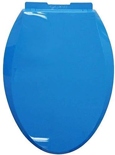 Asiento de inodoro asiento de inodoro O/V/U Tipo Tapa de inodoro con cierre suave Cierre de bisagra ajustable Asiento de inodoro fijo for baño (color: c) 1yess (Color : C)