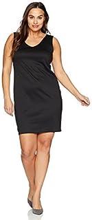 Star Vixen Women's Plus-Size Sleeveless Fishnet Inset Back Bodycon Dress