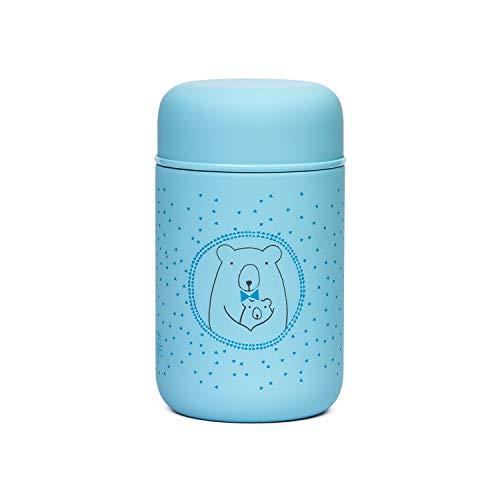 Suavinex 303515 - Thermische fles voor babyvoeding, blauw